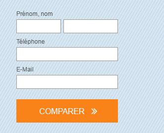 Mini formulaire pour comparer les complémentaires santé